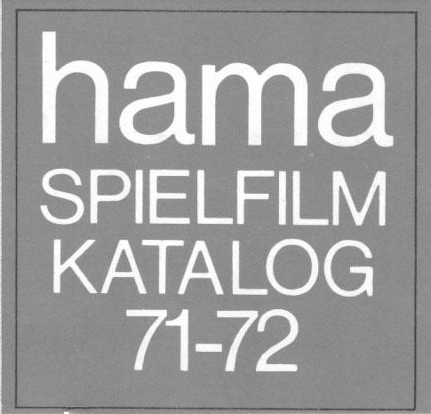 Super 8 Filme von hama